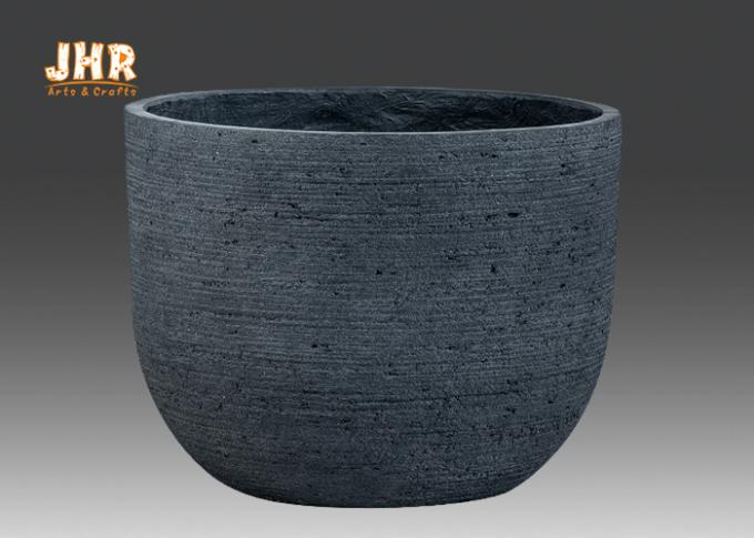 Weathered Garden Pots Clay Flower Pots Resin Outdoor Plant Pots Gray Color Flower Pots