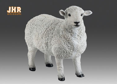White Life Size Fiberglass Dolly Sheep Statue Animal Sculpture Garden Decor