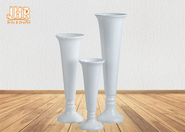 Cup Shape Glossy White Fiberglass Planters Floor Vases For Home Hotel Wedding