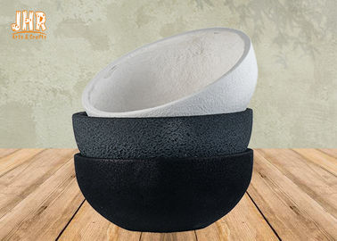 Waterproof Fiberclay Pot Planter Clay Flower Pots White Black Gray Color Round Outdoor Planters
