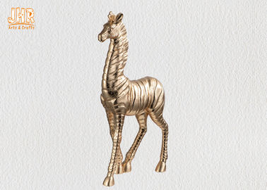 Standing Gold Leaf Polyresin Animal Figurines Zebra Sculpture Table Statue Decor