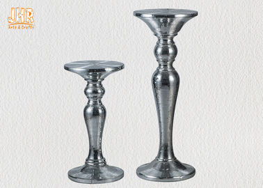 Silver Mosaic Glass Fiberglass Furniture Round Pedestal End Table Modern Style