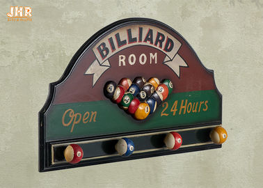 Billiard Room Wall Decor Antique Wooden Wall Signs Decorative Wall Plaques Wood Wall Art Signs