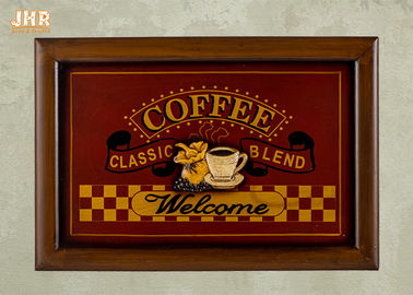 Decorative Wall Plaques Wooden Wall Signs Coffee Shop Wall Decor Antique Home Decorations