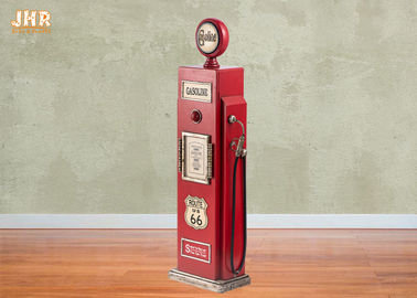 China Gas Pump Storage Cabinet Decorative Wooden Cabinet Wood Floor Rack Red Color Floor Cabinet supplier