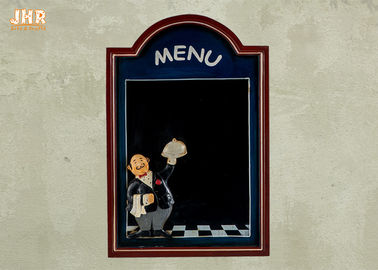 Black Wooden Wall Mounted Chalkboards Framed Menu Board For Restaurant
