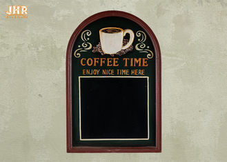 Decorative Wooden Framed Wall Hanging Chalkboards Coffee Time Wall Sign