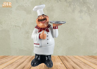China Poly Chef Tabletop Statue Polyresin Statue Figurine Resin French Chef Sculpture supplier