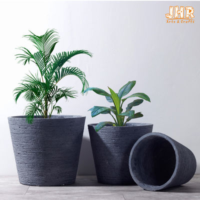 Clay Garden Pots Outdoor Flower Pots Gray Color Pot Planters MGO Plants Pot Round Clay Pots