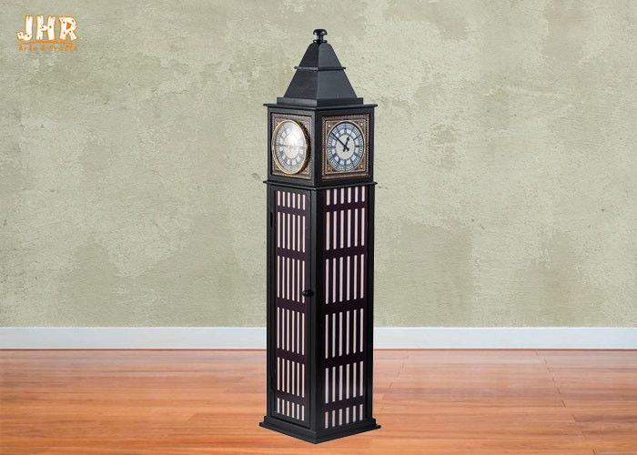 Storage Rack Wood Floor Clock Mdf
