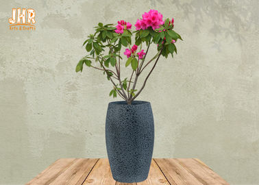 China Large Clay Plant Pots Garden Flower Pots Textured Gray Color Pot Planters Outdoor Pots factory