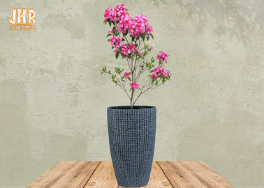 China Gray Color Fiberclay Garden Pots Clay Flower Pots Large Clay Plant Pots Outdoor Pot Planters factory